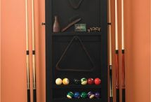 Pool cue stands