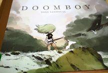 Let's look at Doomboy Graphic Novel by Tony Sandoval. A Rockin book!