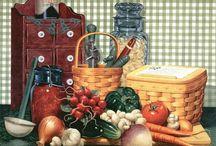 Imagens - Cozinha 1 / Pintura, ilustração e arte decorativa