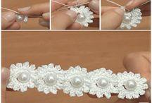 Flower chain chrochet pattern