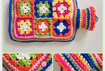 free pattern granny square hot bottle cover
