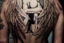Lennie back tattoo
