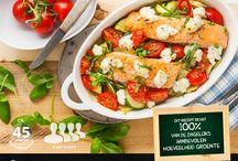 Recepten / Zalm-groente-geitenkaas-ovenschotel