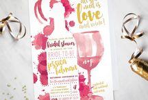 Invitation - wine