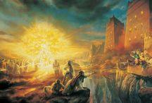 Огонь свет живопись