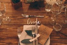 Wedding Decor Inspiration / Brides are loving the eclectic mix of vintage and new pieces. Coloured glass, geometric shapes, concrete, vintage cut glass, marble and metallic