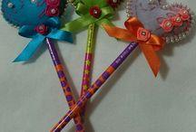 lápis decorado