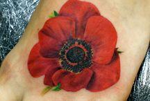 foot poppy tatoos