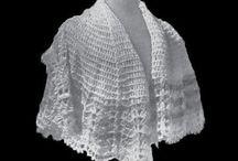 Crochet shawl vintage