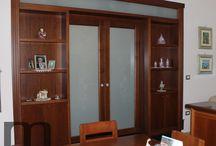 Wooden partition wall / Pareti divisorie in legno