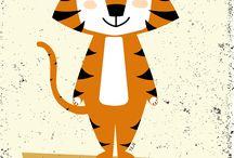 Tiger Tom / Tiger Tom egy nagyon kedves életvidám tigris. Mindent szeretne megismerni a világból, ezért rengeteget jön-megy, ismerkedik és tanul! Ismerd meg Te is Tom szokásait, kedvenceit!