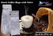 Stock Coffee Bags with Valve / Stock Coffee Bags with Valve.