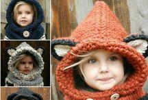 tricot bonnets capuches...