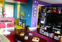 Color BLOCKING interiors / http://forelements.pl/zderzenie-kolorow-czyli-starcie-tytanow-w-czterech-scianach/