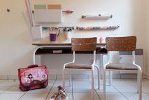 Mon bureau de grande / Aménagement d'un espace de travail enfant par Julie Try . Utiliser un maximun de récup'...