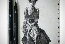 Drawing /  Alguns de meus desenhos