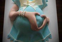 kismama kreatív torta