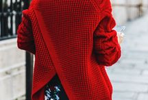 мода красная одежда