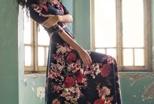 flower print long dress
