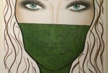 AVANT GARDE: Graphic / Modell: My Johansson Foto: Emelie Bonnier Makeup: Ida Forsback