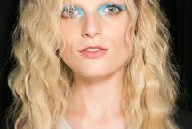 The Techni-Colour Trend / Bold colour this season is carefully placed as an accent on eyes and lips.