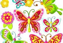 fiori farfalle