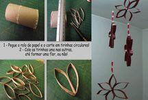 Creatief met karton / papier / knutselwerkjes met wc rollen, papier of karton