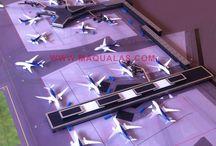 Aeropuerto Amsterdam a escala / Herpa Aeropuerto amsterdam a escala 1;500