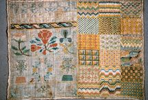 Textiles early Coverlet