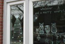 kerst decoratie raam enz