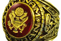 Veteran Rings / Check out our collection of rings for Army and Marine Corps veterans of Vietnam and Korean Wars. / by PriorService.com