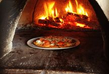 """Wood-fired Pizza Outdoors on Galiano Island / Wood-fired Pizza at the Galiano Oceanfront Inn and Spa....possibly the best ANYwhere!  On a terrazzo terrace, with vines and wrought iron, seating on the water with boats going by (and sometimes whales). And of course amazing wood-fired pizza, draught beer and even """"draught wine"""" from local places."""