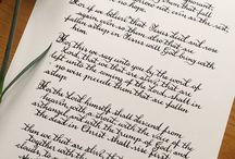 Bible Verses Handwritten in Calligraphy