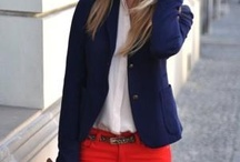 Red trousers/skirt