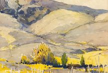 California School of Watercolor Painting / In the late 1920's a major change took place within the California Water Color Society. A group of young artists joined the Society and began exhibiting what became known as the California Style of watercolor painting.