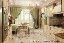 Дизайн кухни / Варианты дизайна интерьеров кухни от студии Elle Interior