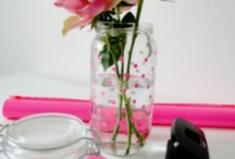 washi tape flower vases