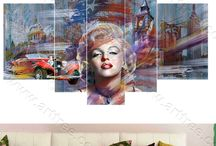 Hollywood Marilyn Monroe / Browse and Shop Premium Quality Hollywood Marilyn Monroe Canvas Prints. FREE Delivery USA & Australia-wide. Create perfect feature wall ideas for living room, bed room or any decor space.