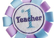 Teacher Gifts / In the Hoop Embroidery Designs perfect for Teacher Gifts! / by Pickle Pie Designs