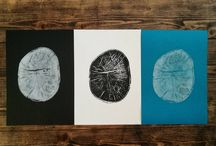 Hajohinta / woodprint
