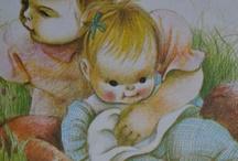 Vintage book illustrations ♡ / Old Children's Book Illustrations by my favorite illustrators: Eloise Wilkin & Beatrix Potter. #vintage golden books