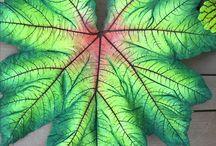 Folhas em cimento