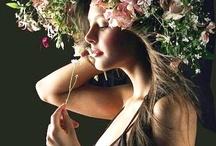 Flower Crown in her hair / Wedding