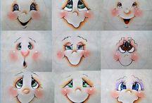 obličej sněhuláka