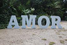 Letras gigantes / Letras de madera gigantes para bodas