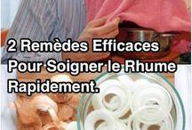 Remèdes Naturels Contre le Rhume / Voici nos meilleurs remèdes naturels pour soigner le rhume et la grippe.