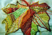 Leaf with lots of stitches