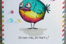 crazy bird cards