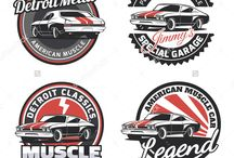 muscle cars vector