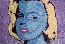 ZenArt / Mariage entre le Zentangle et le Pop Art Peinture acrylique sur toile